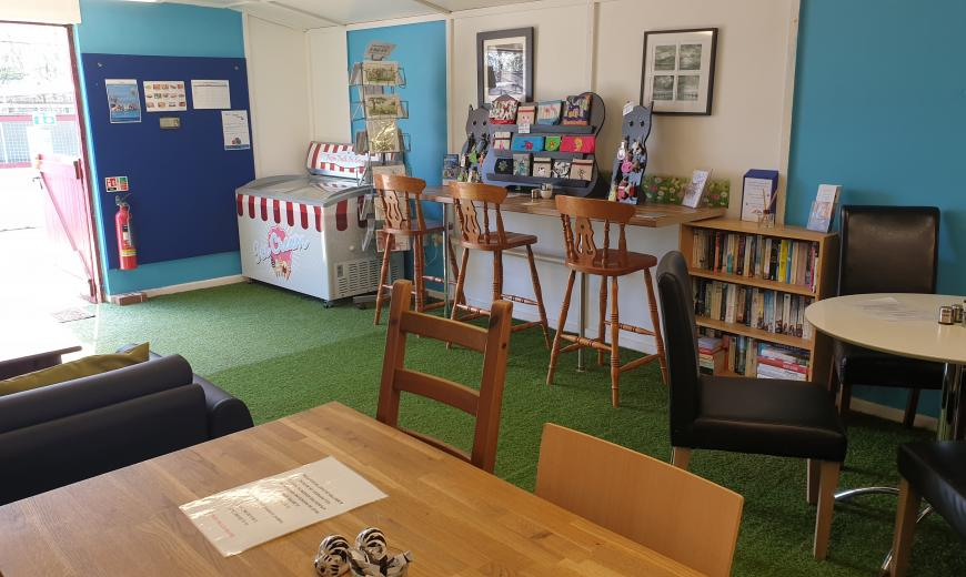 Cotton Tail's Cafe at NAWT Watford animal rehoming centre