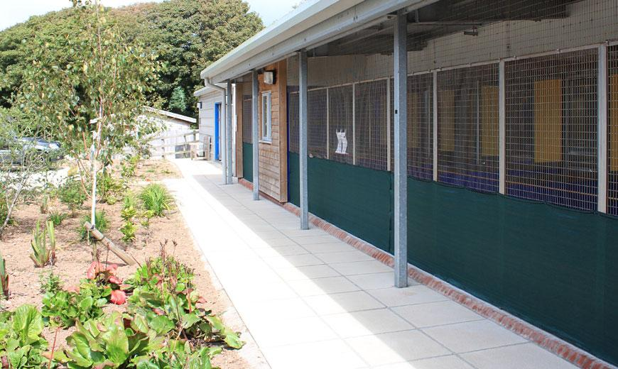 View at the Cornwall rehoming centre