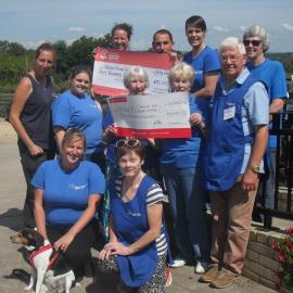 NAWT Somerset supporter group with fundraising cheques