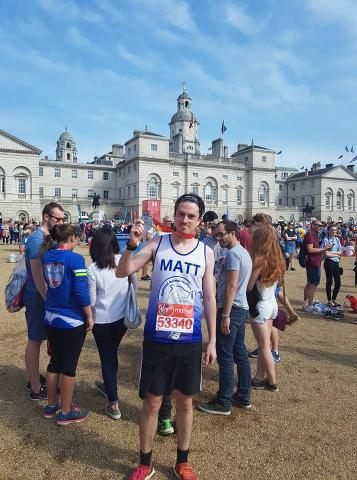 Matt completed the 2018 London Marathon