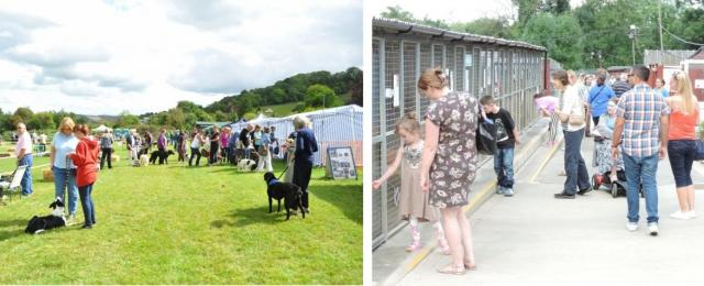 photos of people visiting the NAWT Animal Centres