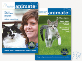 Covers of the Animate Newsletter from NAWT