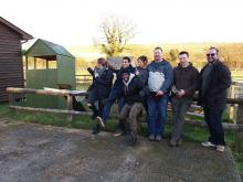 A team from Vodafone Newbury HQ who built and painted a new goat shelter for our Berkshire Centre.