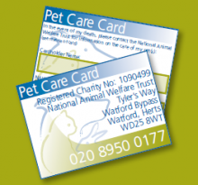 NAWT Pet Care Card